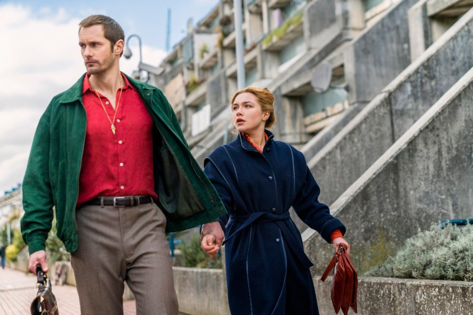 Programme Name: The Little Drummer Girl - TX: n/a - Episode: Early Release (No. n/a) - Picture Shows: *EMBARGOED FOR PUBLICATION UNTIL 23:15:01 ON SATURDAY 28TH JULY 2018* (L-R) Becker (ALEXANDER SKARSGARD), Charlie (FLORENCE PUGH) - (C) The Little Drummer Girl Distribution Limited. - Photographer: Jonathan Olley