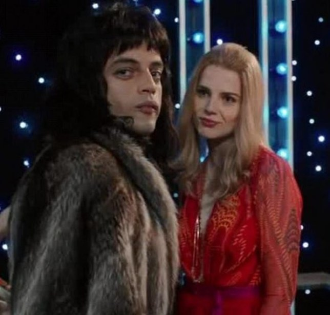 Rami Malek and Lucy Boynton in Bohemian Rhapsody