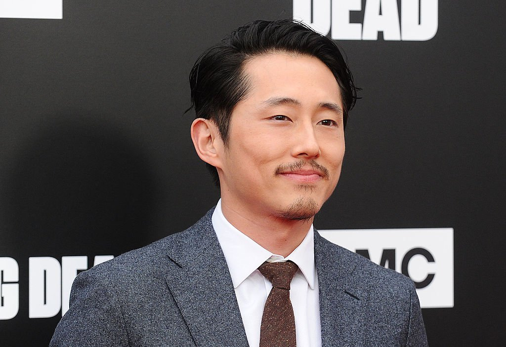 """HOLLYWOOD, CA - OCTOBER 23: Actor Steven Yeun attends the live, 90-minute special edition of """"Talking Dead"""" at Hollywood Forever on October 23, 2016 in Hollywood, California. (Photo by Jason LaVeris/FilmMagic)"""
