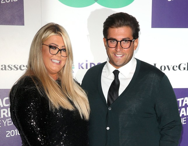 Mandatory Credit: Photo by Danny Martindale/REX (9943666g) Gemma Collins and James Argent Spectacle Wearer of the Year Awards, London, UK - 24 Oct 2018