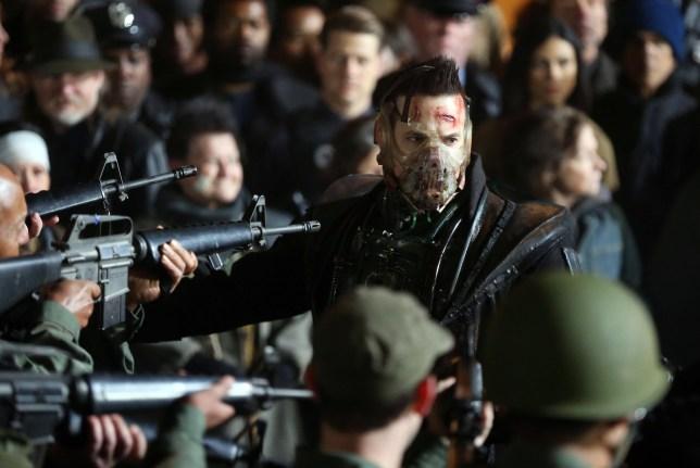 "Cast of ""Gotham"" Filming major scene. 25 Oct 2018 Pictured: Shane West. Photo credit: SteveSands/NewYorkNewswire/MEGA TheMegaAgency.com +1 888 505 6342"
