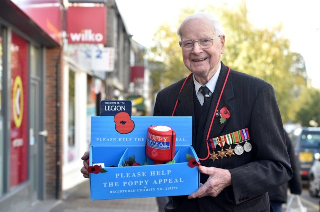 Walter ???Wally??? Randall who has laid claim to be Britain's oldest poppy seller. See SWNS copy SWCApoppy: A 103-year-old World War Two veteran has laid claim to be Britain's oldest poppy seller. Walter ???Wally??? Randall has been hailed as the country's oldest fundraiser for the Royal British Legion after selling poppies for the last 70 years. Wally, born in the village of Wing, Bucks., has been selling poppies for the Royal British Legion in Leighton Buzzard, Beds since the early 1950s. He served in the service corps during World War Two before he later held the positions of both branch chairman and club chairman for the Leighton Buzzard Royal British Legion.