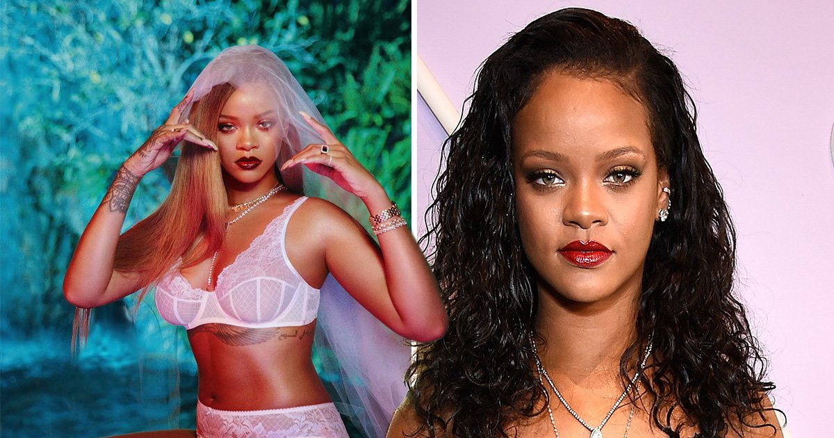 Rihanna strips down to lingerie for Savage x Fenty photo shoot after celebrating her 'thick' body