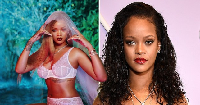 8c23e8be5 Rihanna strips down to lingerie for stunning Savage x Fenty photo ...