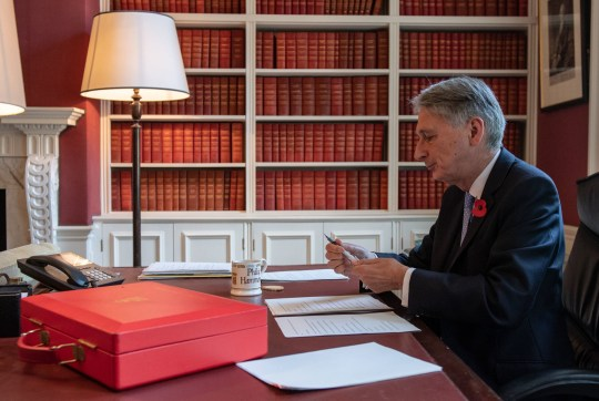 Chancellor of the Exchequer Philip Hammond, prepares his speech in his office in Downing Street, London, ahead of his 2018 Budget announcement on Monday. PRESS ASSOCIATION Photo. Picture date: Sunday October 28, 2018. See PA story POLITICS Budget. Photo credit should read: Chris J Ratcliffe/PA Wire