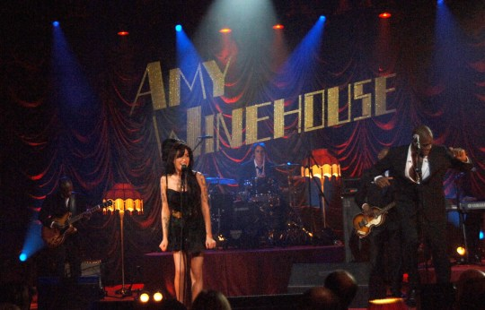Mandatory Credit: Photo by Richard Young/REX/Shutterstock (731998ak) Amy Winehouse Amy Winehouse Grammy performance, Riverside Studios, London, Britain - 10 Feb 2008