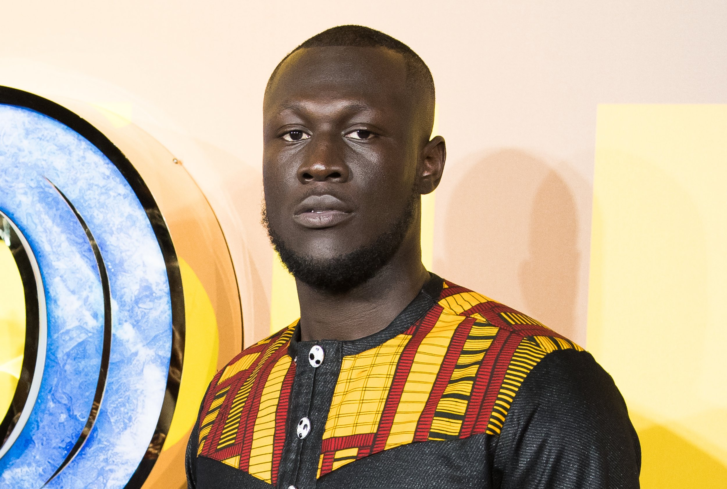 LONDON, ENGLAND - FEBRUARY 08: Stormzy attends the European Premiere of 'Black Panther' at Eventim Apollo on February 8, 2018 in London, England. (Photo by Samir Hussein/Samir Hussein/WireImage)