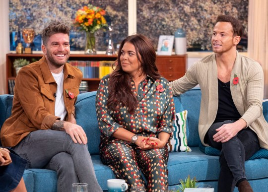 Editorial use only Mandatory Credit: Photo by Ken McKay/ITV/REX (9948600bq) Joel Dommett, Scarlett Moffatt and Joe Swash 'This Morning' TV show, London, UK - 30 Oct 2018 I?M A CELEB: JOEL DOMMETT, JOE SWASH & SCARLETT MOFFATT Before they head back Down Under for the return of ?I?m A Celebrity: Extra Camp?, stars of the show Joel Dommett, Joe Swash and Scarlett Moffatt are stopping off at our studio to tell us everything we can expect from the new series. Plus, with Holly joining them for the first time - what do they have in store for her?