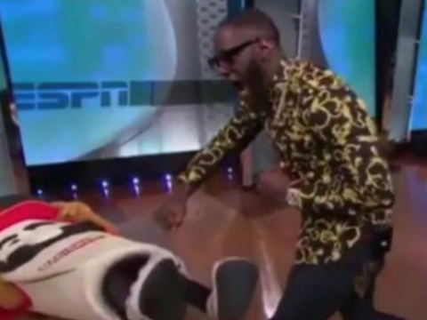 ESPN shoot dead claims Deontay Wilder broke a mascot's jaw on live TV