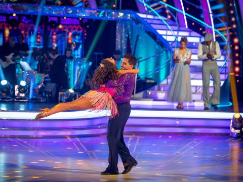 Who left Strictly Come Dancing last night as the competition reached halfway mark?