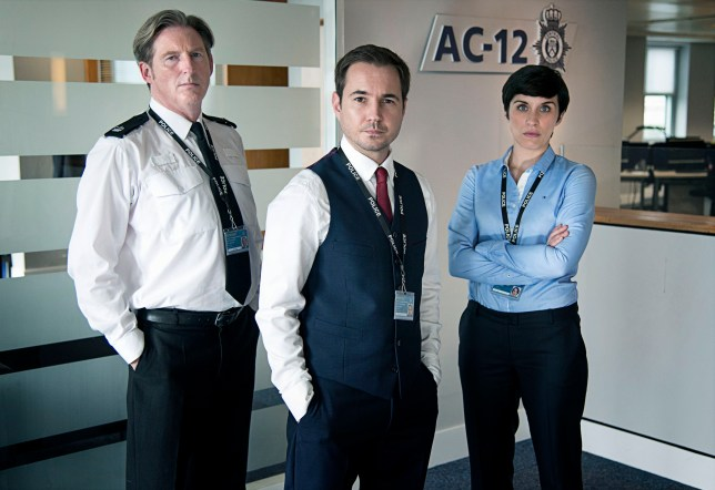 Television Programme: Line Of Duty, with Martin Compston as DS Steve Arnott, Adrian Dunbar as Ted Hastings and Vicky McClure as DC Kate Fleming. Programme Name: Line of Duty - TX: n/a - Episode: n/a (No. n/a) - Picture Shows: Superintendent Ted Hastings (ADRIAN DUNBAR), Detective Sergeant Steve Arnott (MARTIN COMPSTON), Detective Constable Kate Fleming (VICKY McCLURE) - (C) World Productions - Photographer: Steffan Hill