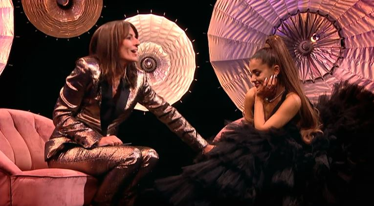Ariana Grande emotional as Davina McCall thanks singer for returning to UK after Manchester attack