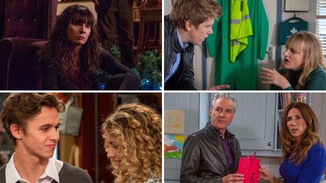 Emmerdale spoilers for Chas, Robert, Nicola, Jacob, Maya, Frank and Megan