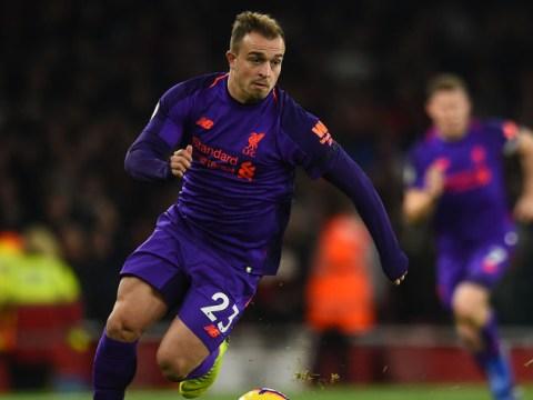 Jurgen Klopp insists Xherdan Shaqiri accepted his decision to leave him in Liverpool