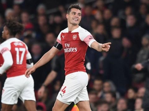 Unai Emery praises Arsenal midfield duo Granit Xhaka and Lucas Torreira after Liverpool draw