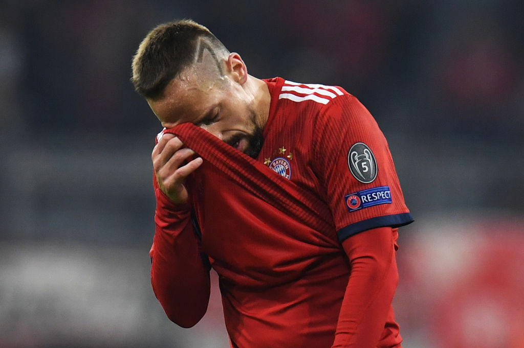 Bayern confirm Franck Ribery involved in 'altercation' with reporter after Dortmund defeat