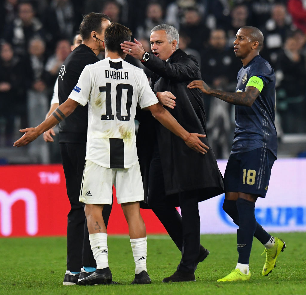 What Paulo Dybala told Jose Mourinho after Manchester United boss taunted Juventus crowd