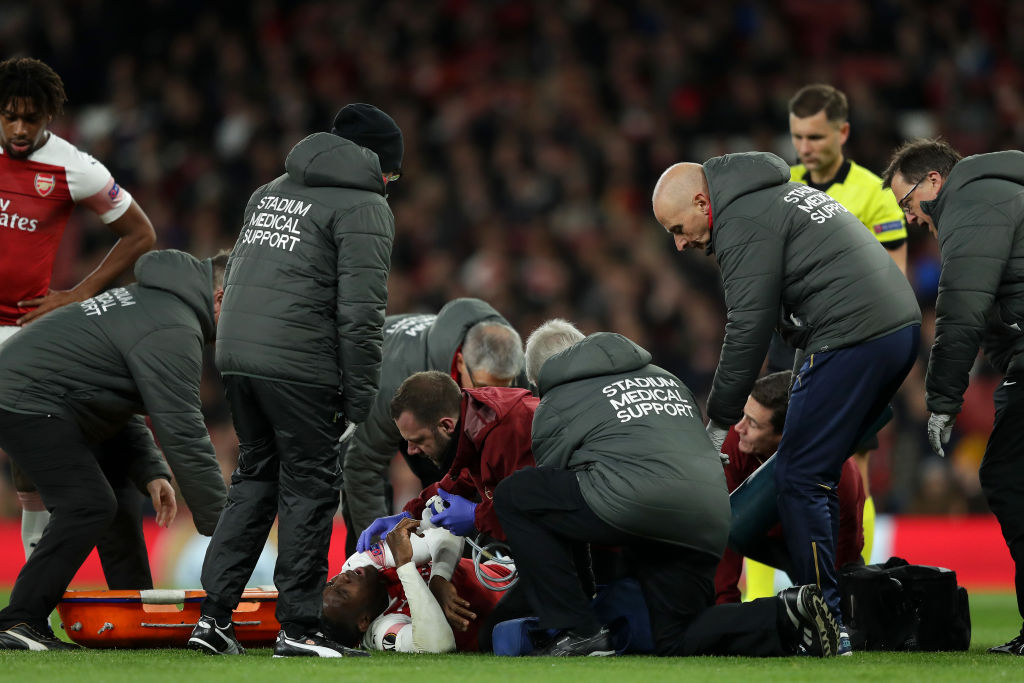Unai Emery confirms Arsenal forward Danny Welbeck has broken 'something' in his ankle