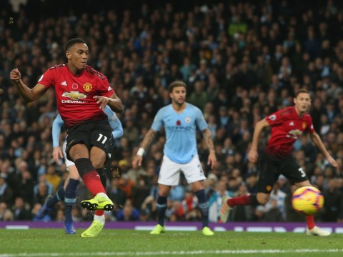 Manchester United star Anthony Martial joins two elite groups with goal against Manchester City