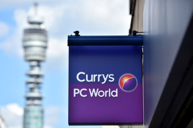 the currys PC world sign