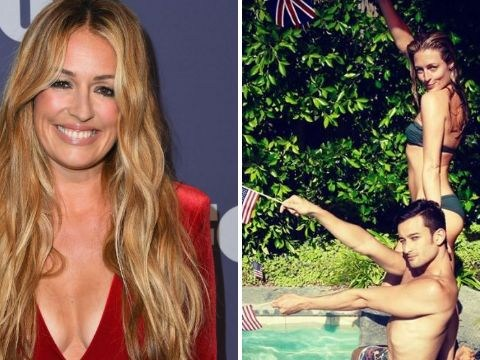 Looks like we've lost Cat Deeley to the States forever as she lives the pool party life