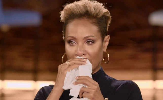 Jada Pinkett Smith was in tears on the latest Red Table Talk (Picture: Red Table Talk)