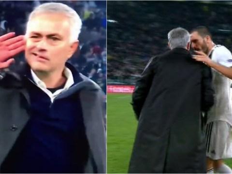 Leonardo Bonucci confronts Jose Mourinho after Manchester United boss taunts Juventus fans