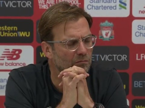 Jurgen Klopp reacts angrily to question on Liverpool's 'overrun' midfield