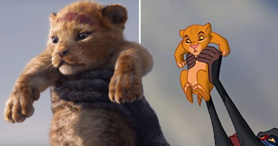 The new The Lion King trailer side by side with the original The Lion King movie scenes will give you all the feels. It's perfect.