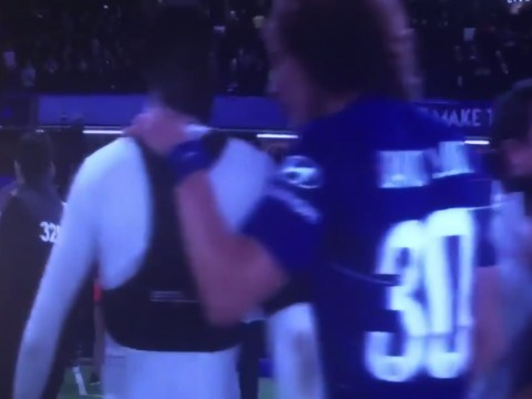 David Luiz shows his class by consoling Chelsea loanee Fikayo Tomori after Derby own goal