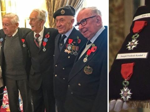 British WWII veterans receive France's highest military honour