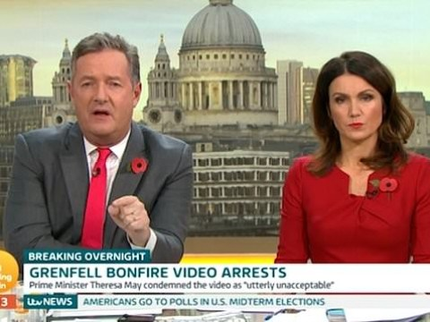 Piers Morgan tears into 'vomit making' burning Grenfell Tower effigy video