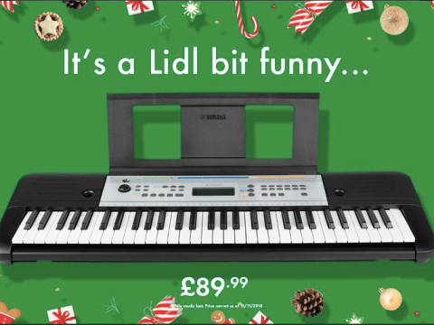 John Lewis has a Lidl bit of festive bants with the budget supermarket over Elton John's pricey piano