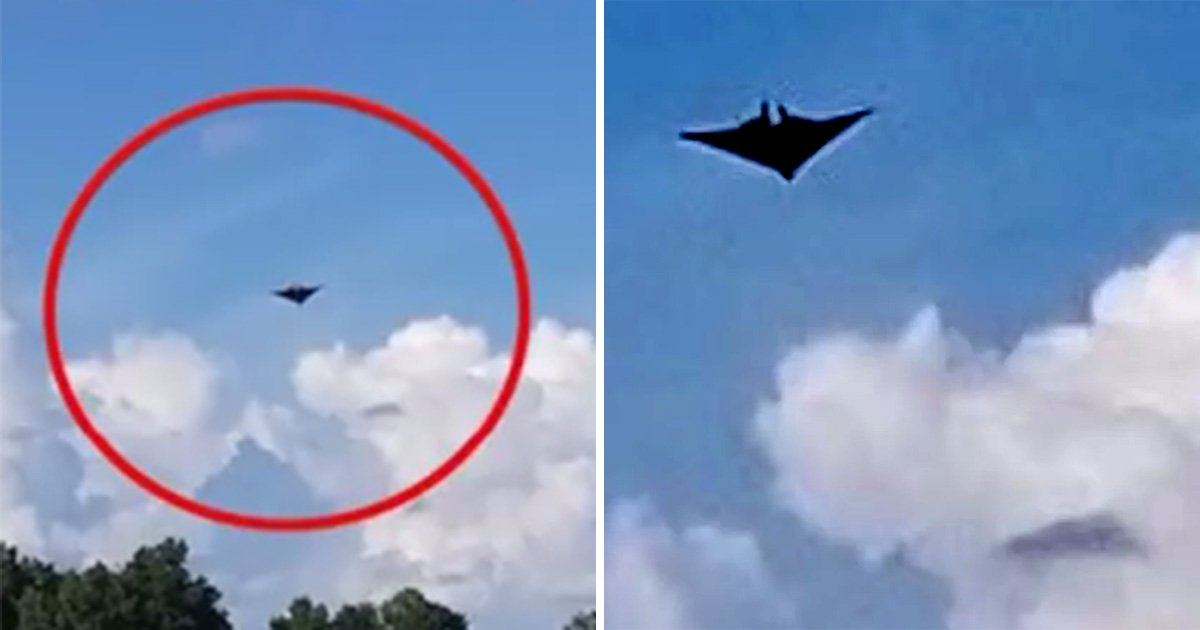 Mysterious 'Pterodactyl' UFO casting shadow over clouds 'could be cloaked spaceship'