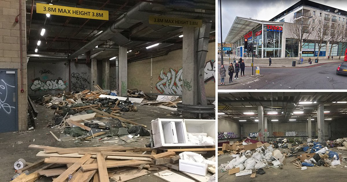 Homeless people found living around 700-tonne rubbish mountain in Tesco basement