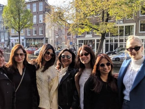 Sophie Turner joins Priyanka Chopra's Amsterdam hen party but there's not a sash or veil in sight