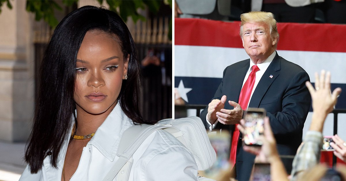 Rihanna shuts down Donald Trump over his 'tragic' rallies