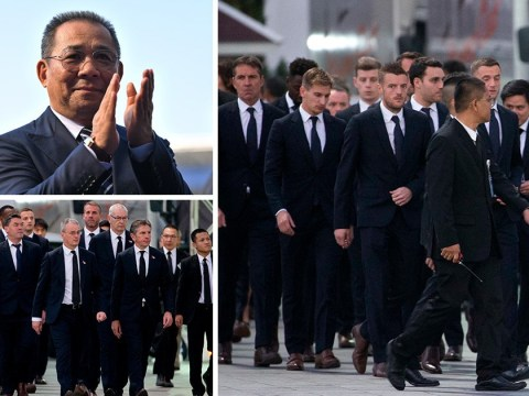 Leicester City players attend funeral of club owner killed in helicopter crash