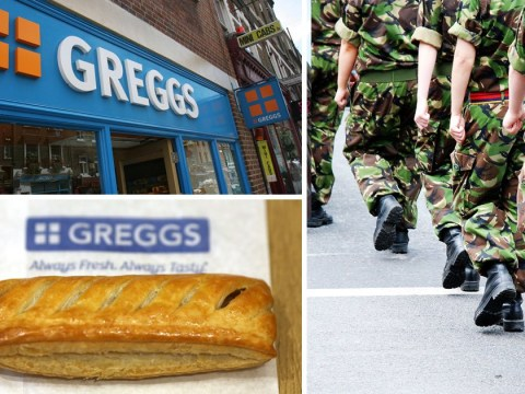 Army wages war on Greggs as soldiers banned from 'standing outside eating a pasty'