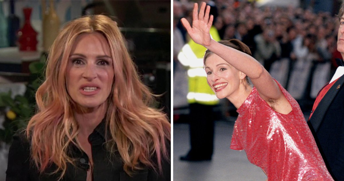 Julia Roberts hadn't 'calculated her sleeve length' as she addresses famous 'hairy armpit' photo