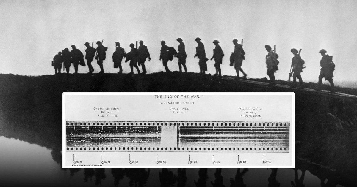 Eerie recording reveals moment the guns fell silent at the end of WWI