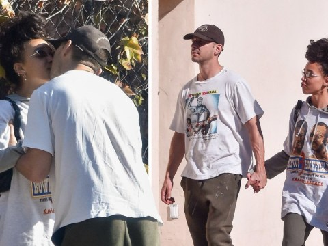 Shia LaBeouf and FKA twigs are totally loved-up as they share first public kiss in PDA-filled date