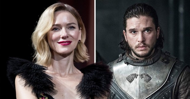 Naomi Watts and Kit Harington as Jon Snow on Game Of Thrones