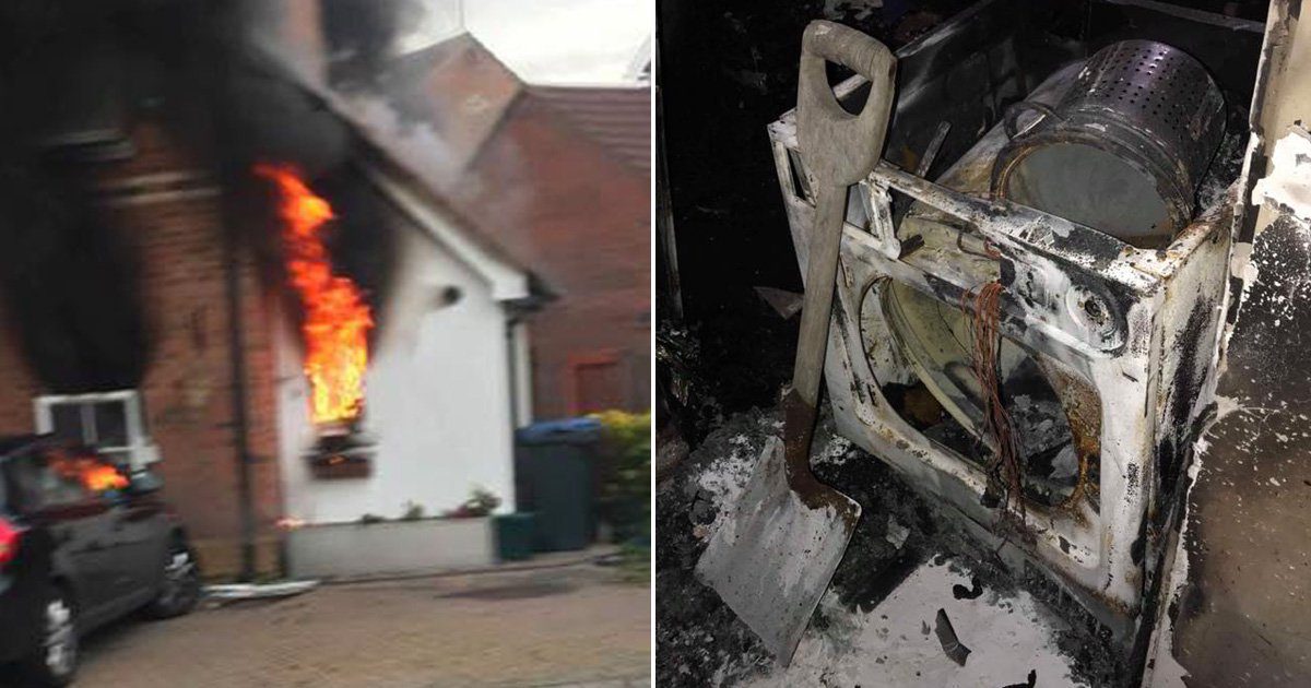 Mum-of-four left homeless after devastating fire started by tumble dryer