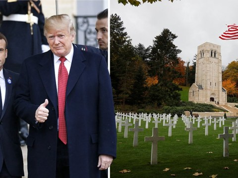 Donald Trump cancels visit to WW1 military cemetery because it's raining