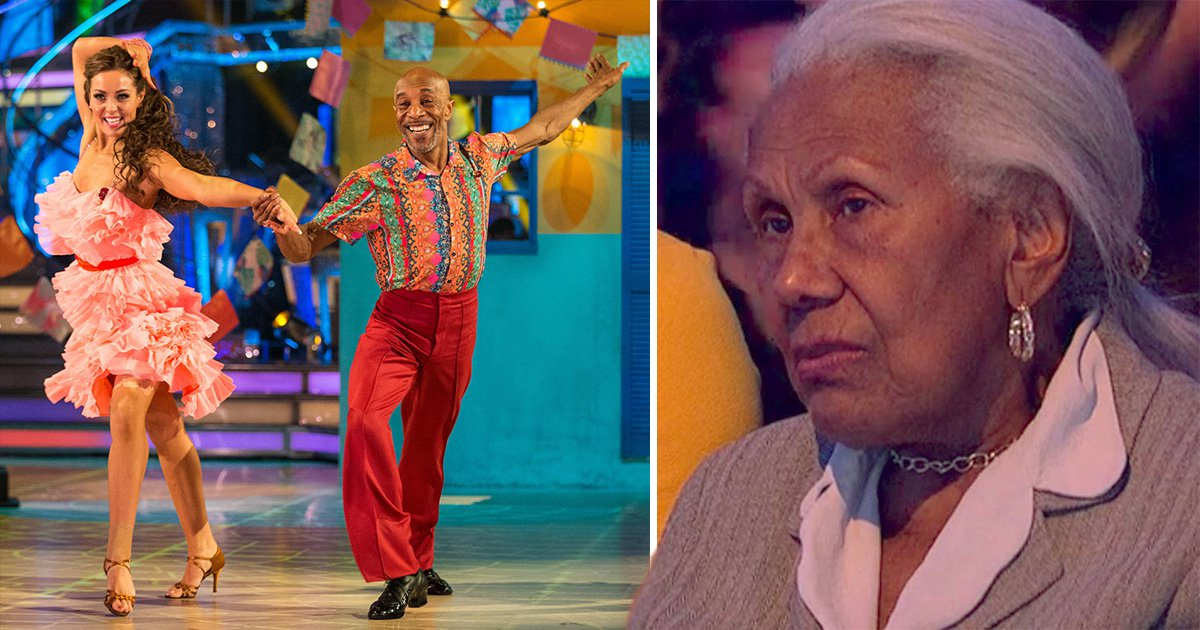Danny John-Jules' mum looks 'completely unimpressed' in the Strictly audience after Amy Dowden bullying rumours