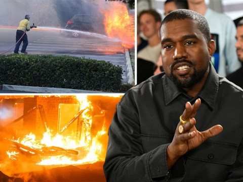 Kanye West praises 'true hero' firefighters battling the California wildfires
