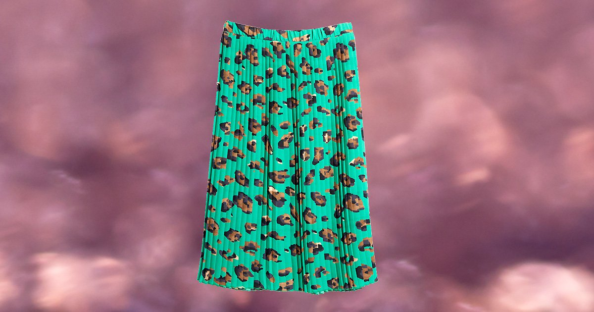 Everyone wants this green animal print pleated skirt from Stacey Soloman's Primark collection
