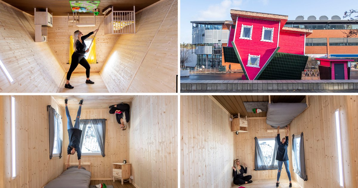 Britain's first upside down house opens its upside down doors