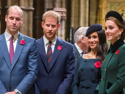 Kate and Meghan join the Queen at Westminster Abbey to mark centenary of the Armistice